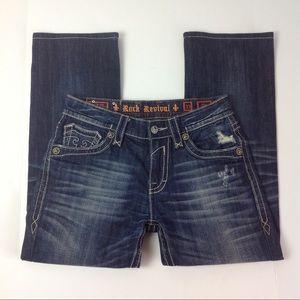 Rock Revival Mick 33 x 29.5 Bootcut Jeans Men's